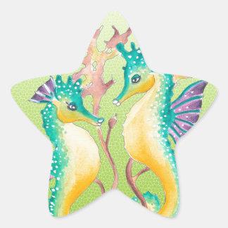 vitral do limão dos cavalos marinhos adesito estrela