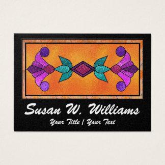 Vitral elegante cartão de visitas