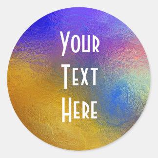 Vitral, janela brilhante colorida transparente adesivo