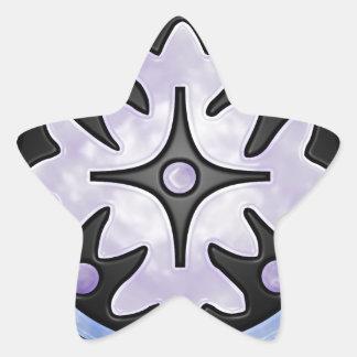 Vitral nublado adesivo em forma de estrela