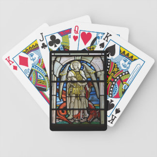 Vitral St Michael Helston Cornualha Inglaterra Baralho Para Poker