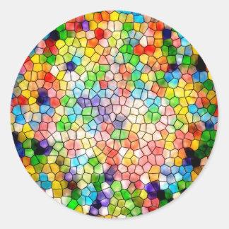 Vitral tonto adesivo em formato redondo