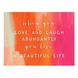Viva e ame o cartão da vida