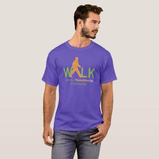 Viva em um ø t-shirt pedestre da comunidade camiseta