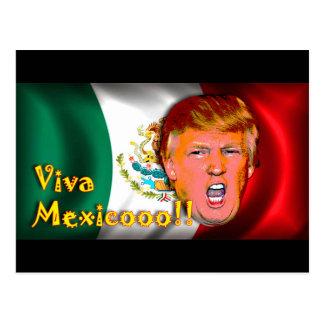 Viva México!!! Cartão do trunfo de anti-Donald