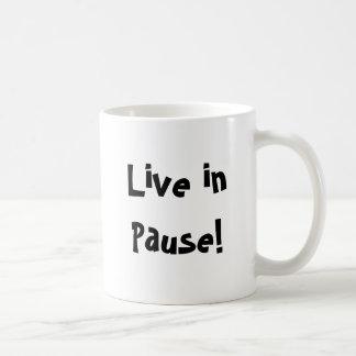 Viva na pausa! caneca de café