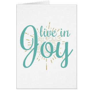 Viva no cartão vazio da alegria |