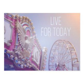 Viva para hoje - cartão do carnaval cartao postal