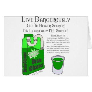 Viva perigosamente cartão