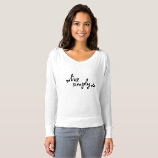 viva simplesmente camiseta