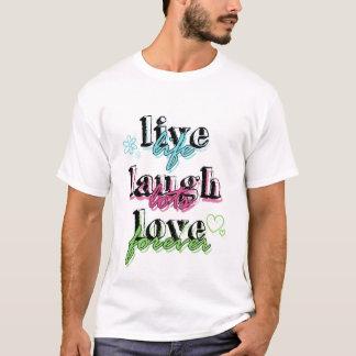 Vive a camisa superior do amor t do riso