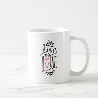 Vive a caneca de café do amor