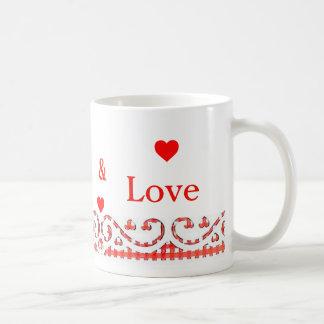 Vive a caneca de café do amor do riso