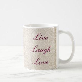 Vive a caneca do laço do marfim do amor do riso