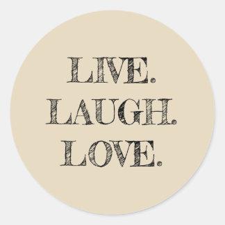 Vive a etiqueta do amor do riso