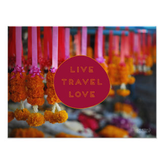 Vive o amor //Chiang Mai do viagem, Tailândia Impressão De Foto