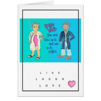 Vive o cartão do amor do riso