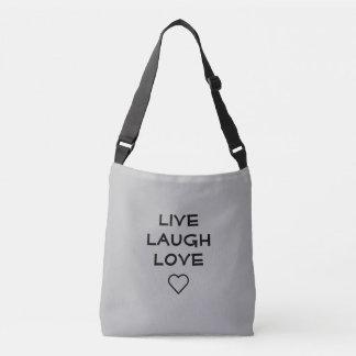 Vive o saco crossbody do amor do riso bolsa ajustável