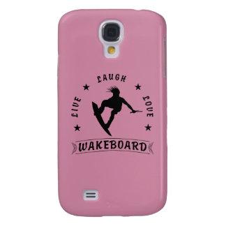 Vive o texto preto do amor WAKEBOARD 1 do riso Galaxy S4 Cases