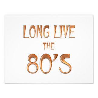 Vive por muito tempo o anos 80 convites personalizados