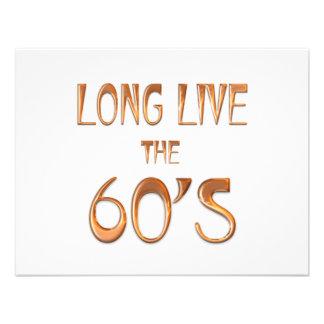 Vivem por muito tempo os anos 60 convites