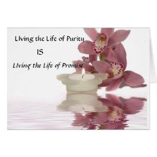 Vivendo a vida do cartão da pureza
