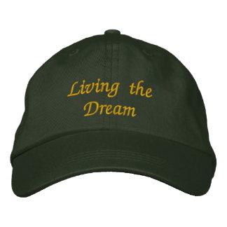 Vivendo o boné bordado sonho
