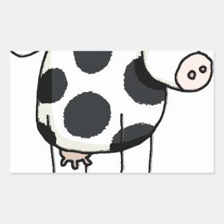 Vivi vaca adesivo retangular