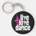 Vivo, amor, bailarina da dança chaveiros