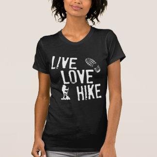 Vivo, amor, caminhada camiseta