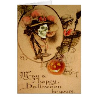 Vivo feliz do zombi do crânio do Dia das Bruxas Cartao