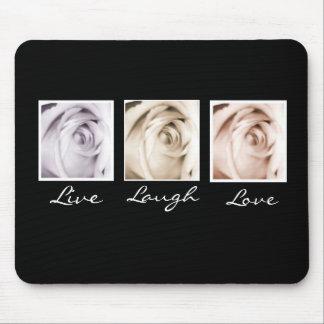 Vivo, riso, ame o mousepad de 3 rosas