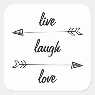 Vivo, riso, etiqueta do amor