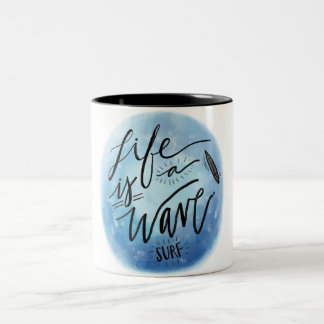 VK Life is a Wave Surf Caneca Dois Tons