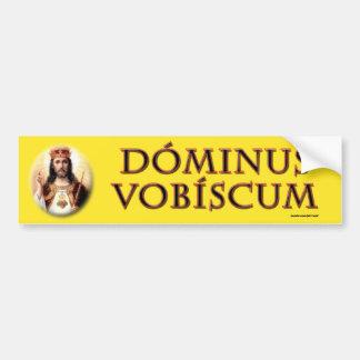Vobiscum de Dominus Adesivo Para Carro