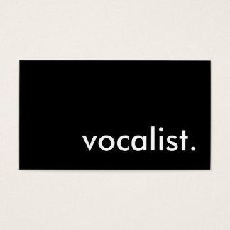 vocalist. cartão de visitas