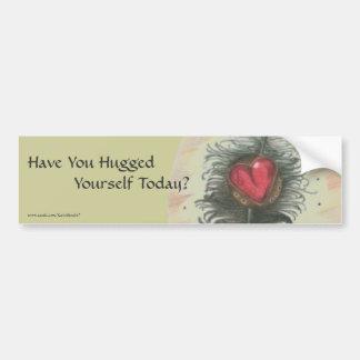 Você abraçou-se hoje? adesivo para carro
