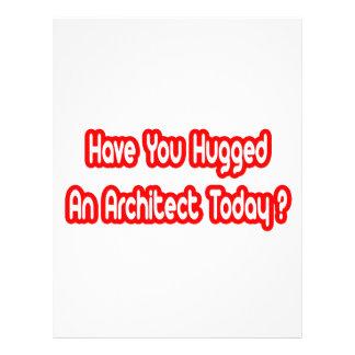 Você abraçou um arquiteto hoje? panfleto personalizados