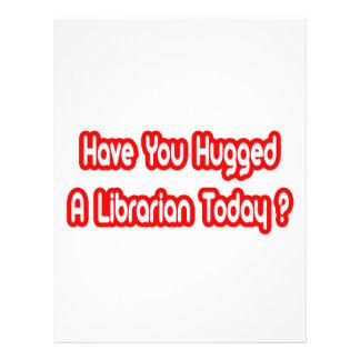 Você abraçou um bibliotecário hoje? modelos de panfleto