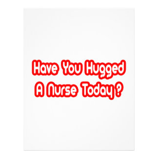 Você abraçou uma enfermeira hoje? panfletos personalizado