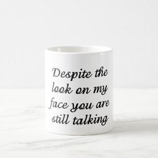 Você ainda está falando caneca de café