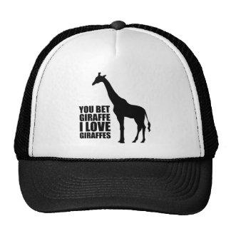 Você aposta o girafa que eu amo o chapéu dos giraf bonés