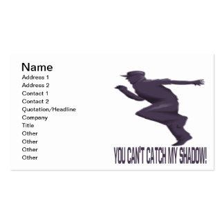 Você captura chanfrada minha sombra cartão de visita