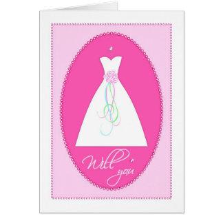 Você? Cartão assistente do convite do casamento
