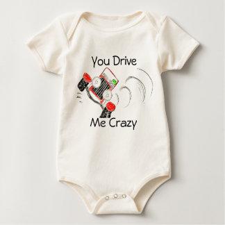 """""""Você conduz-me"""" corpo louco para bebês Body Para Bebê"""