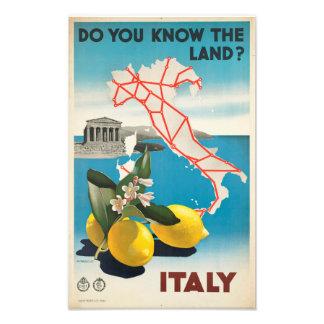 Você conhece a terra? Impressão da foto de Italia Impressão De Foto