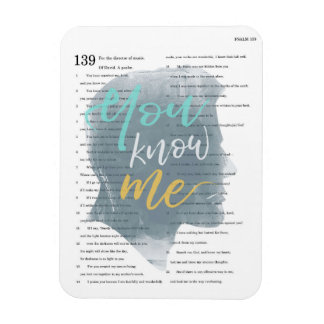Você conhece-me, salmo 139, silhueta masculina ímã