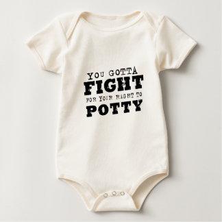 Você conseguiu lutar por seu direito ao potty body para bebê