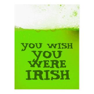 Você deseja que você era cartão verde irlandês da