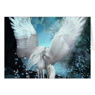 Você deu-me Sparkling Pegasus das asas Cartão